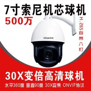 希泰XT-PG708W H265-500W室外防水网络球机