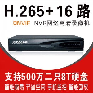希泰XT-NVR8216C H265+16路双盘网络高清录像机